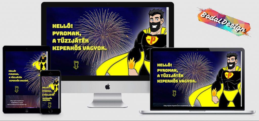 Pyroman website marketing
